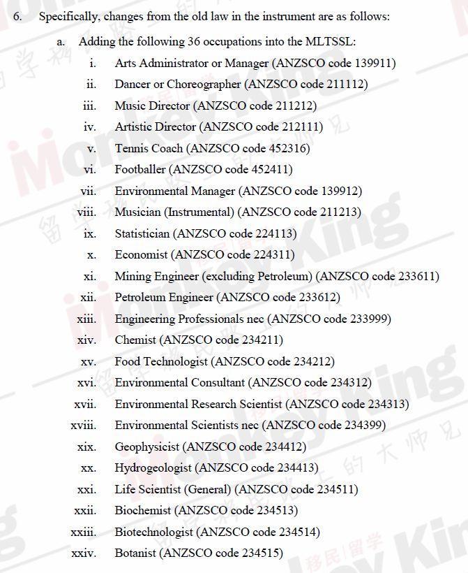 【立即生效!】说好的3.11系统维护呢? 移民局今早竟然更新了移民列表!189新增36个职业,另有27个职业被砍!(附完整列表)
