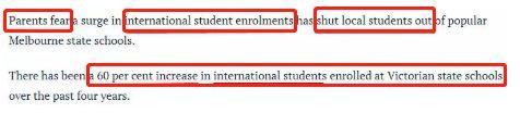 What ?! 维州教育部突发宣布:州内公立学校立即停止招收海外学生!申请到墨尔本的留学生怎么办?!